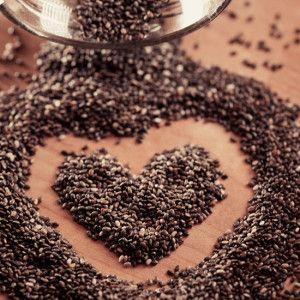 chia semienka srdce
