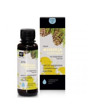 Cédrový olej s cédrovou živicou 30% a kamenný olej (biele mumio)