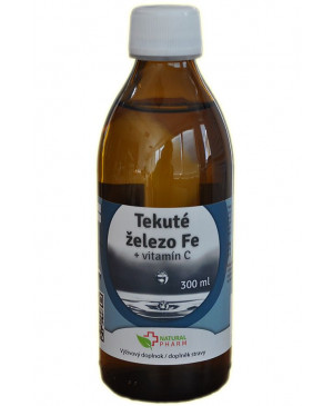 tekuté železo + vitamín C natural pharm 300 ml