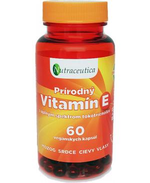 Nutraceutica Prírodný vitamín E 60 kapsúl
