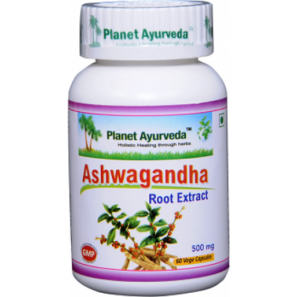 Planet Ayurveda Ashwagandha extrakt 10:1 500 mg 60 kapsúl