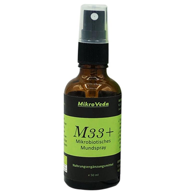 M33+ mikrobiotický ústny sprej