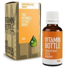 vitamin bottle grapefruit olej kvapky