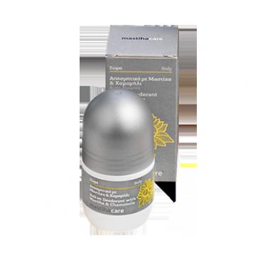 Roll-on Deodorant s mastichou, harmančekom a šalviou