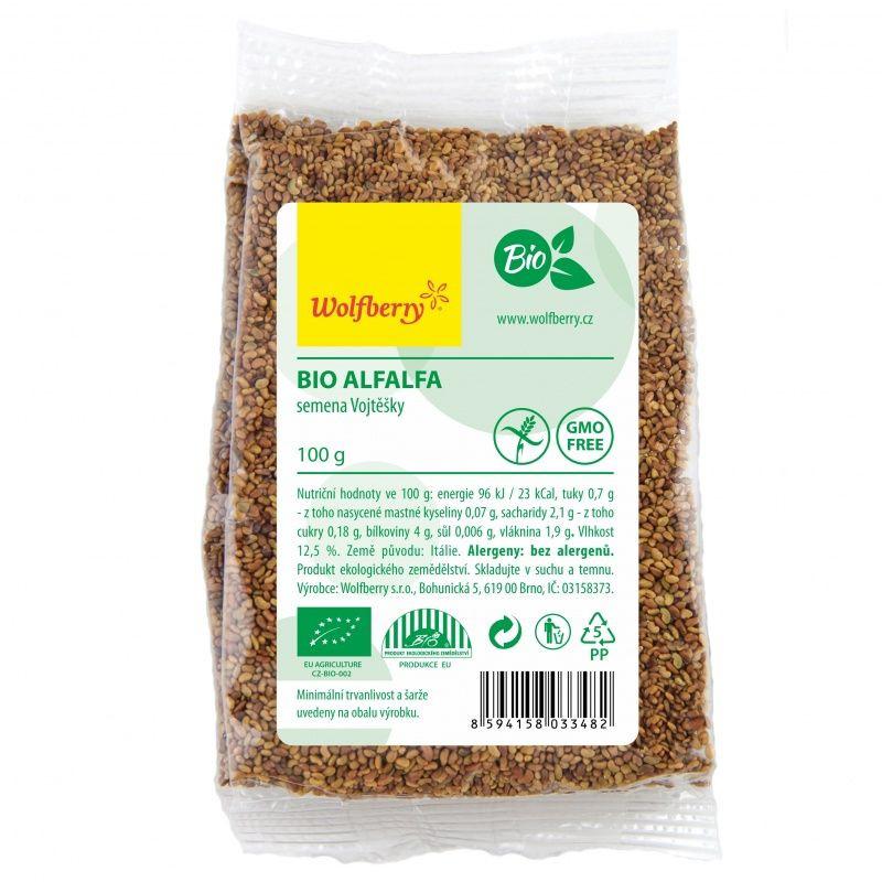 alfalfa semienka lucerny bio 100g