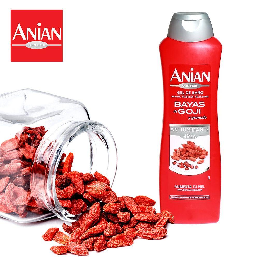 antioxidačný sprchový gél anian s goji a granátovým jablkom 750 ml