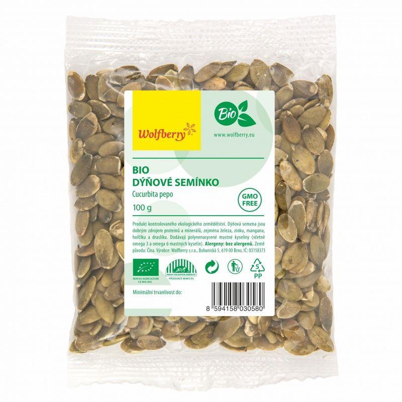 tekvicové semienka lúpané wolfberry bio 100g