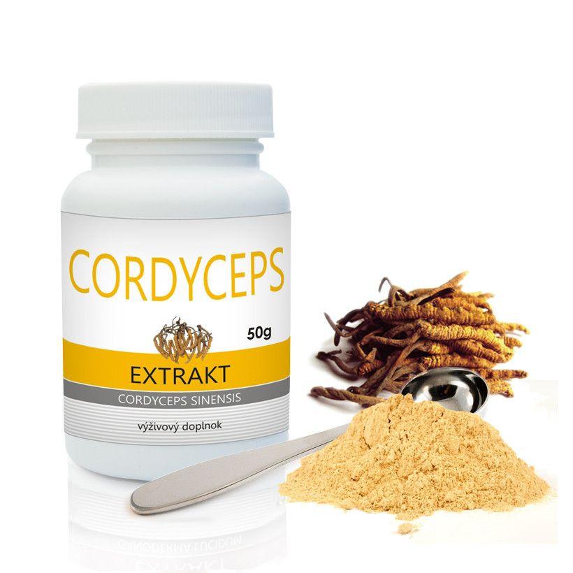 cordyceps bio medicínsky extrakt prášok