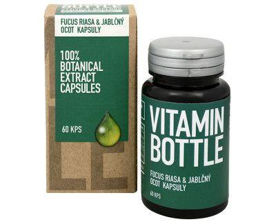 vitamin bottle fucus riasa a jablčný ocot kapsuly