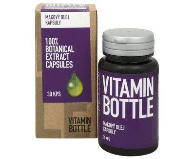 makový olej vitamin bottle 30 kapsúl