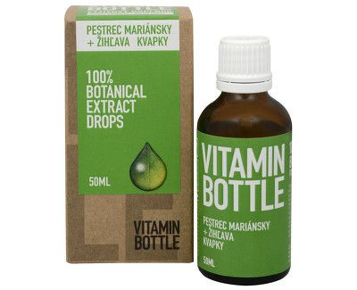 vitamin bottle pestrec mariánsky a žihľava kvapky 50 ml