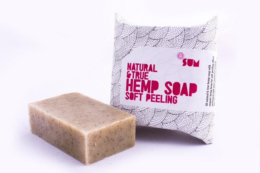 konopné mydlo sum peeling