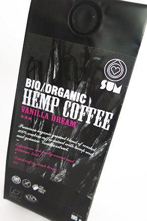 Konopná káva sum, bio, organic, vanilka