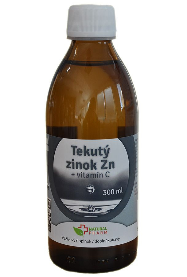 tekutý zinok + vitamín C natural pharm 300 ml