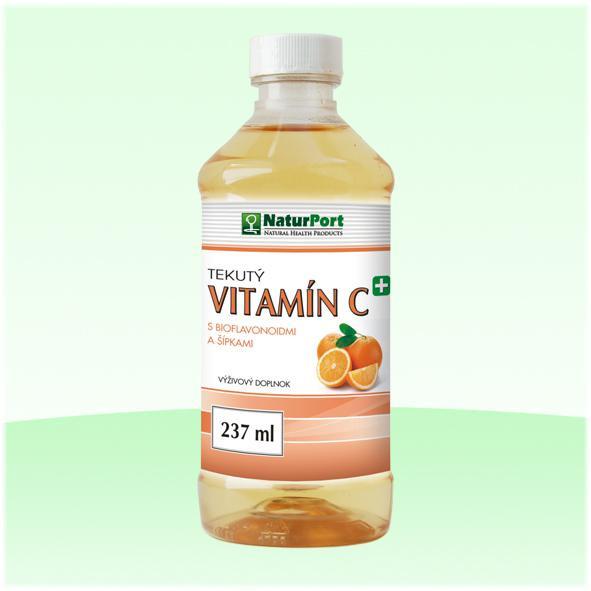 Naturport tekutý vitamín C, s bioflavonoidmi a šípkami