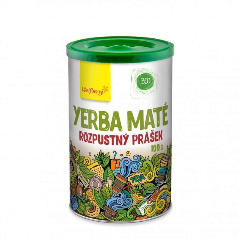 zelený čaj yerba maté prášok bio wolfberry