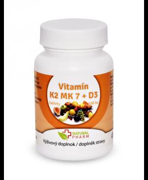 Vitamín K2 MK-7 + D3 tablety