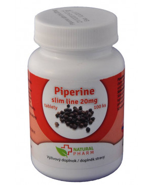 piperín slim line forte 20 mg 100 tabliet