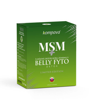 Kompava MSM + belly fyto detox