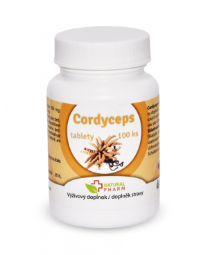 Natural Pharm Cordyceps extrakt 350 mg 100 a 200 tabliet