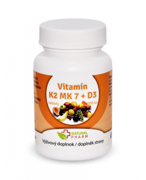 Natural Pharm Vitamín K2 MK-7 + D3 100 a 200 tabliet