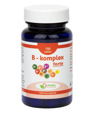 Natural Pharm B - komplex s vitamínom C 100 a 200 tabliet
