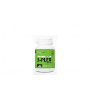 NaturMedic MUSHROOM 2-PLEX - extrakt huby Reishi a Chaga 50 kapsúl