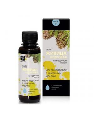 Cédrový olej s cédrovou živicou 30% a kamenný olej (biele mumio) 100 ml