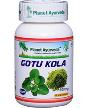 Planet Ayurveda Gotu Kola extrakt 500 mg 60 kapsúl