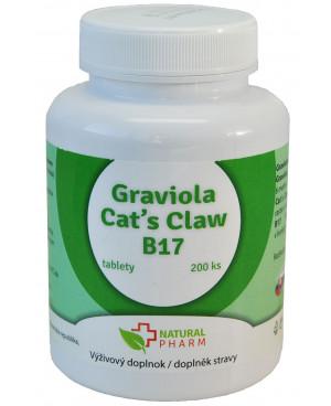 Natural Pharm Graviola + Cat´s Claw (Mačací pazúr) + B17 100 a 200 tabliet