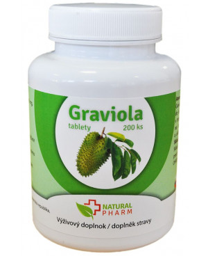 Natural Pharm Graviola (Annona muricata) 100 a 200 tabliet
