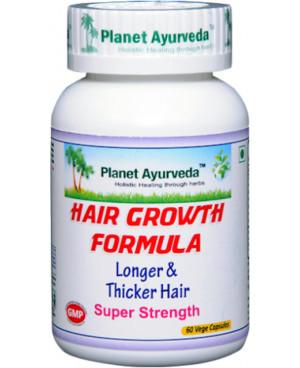 Planet Ayurveda Hair Growth Formula (Podpora vlasov) 500 mg 60 kapsúl