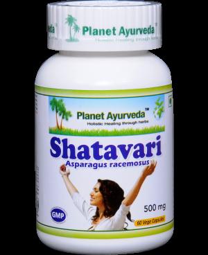 Planet Ayurveda Shatavari extrakt 4:1 500 mg 60 kapsúl