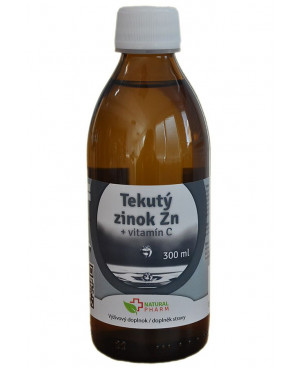 Natural Pharm Tekutý zinok Zn + Vitamín C 300 ml